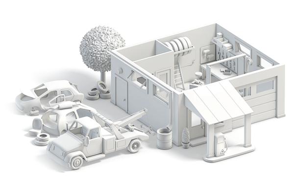 تصميم 3D لمدينة من صنع المصممة آنا باشينكو