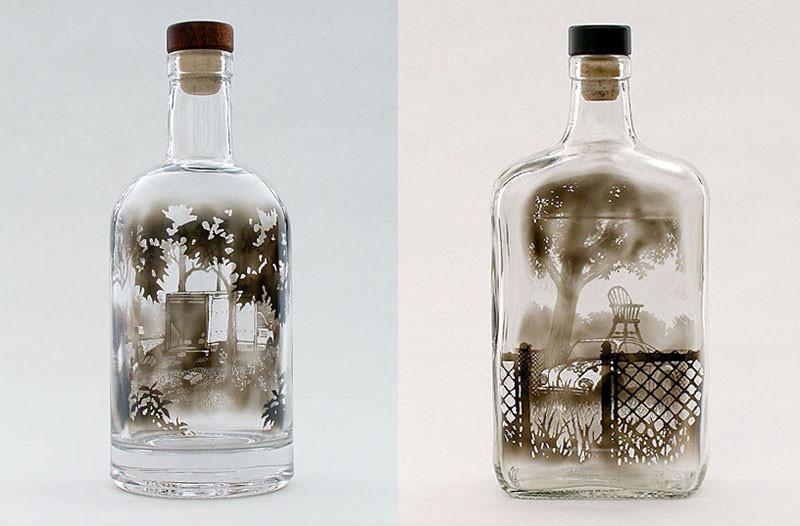 فن الدخان المعبأة في زجاجات