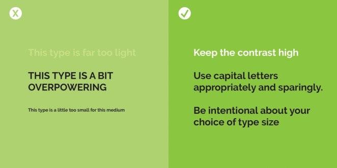 قواعد تصميم يجب اتباعها