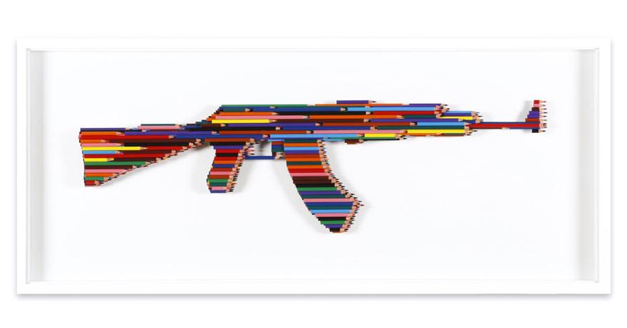 منحوتات مبدعة باقلام الرصاص