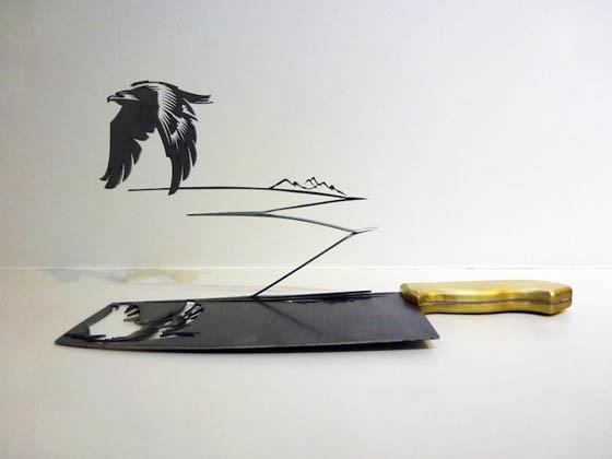 مشاهد ظلية منحوتة من سكاكين