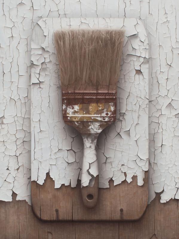 فنان يرسم لوحات تبدو وكأنها صور فوتوغرافية
