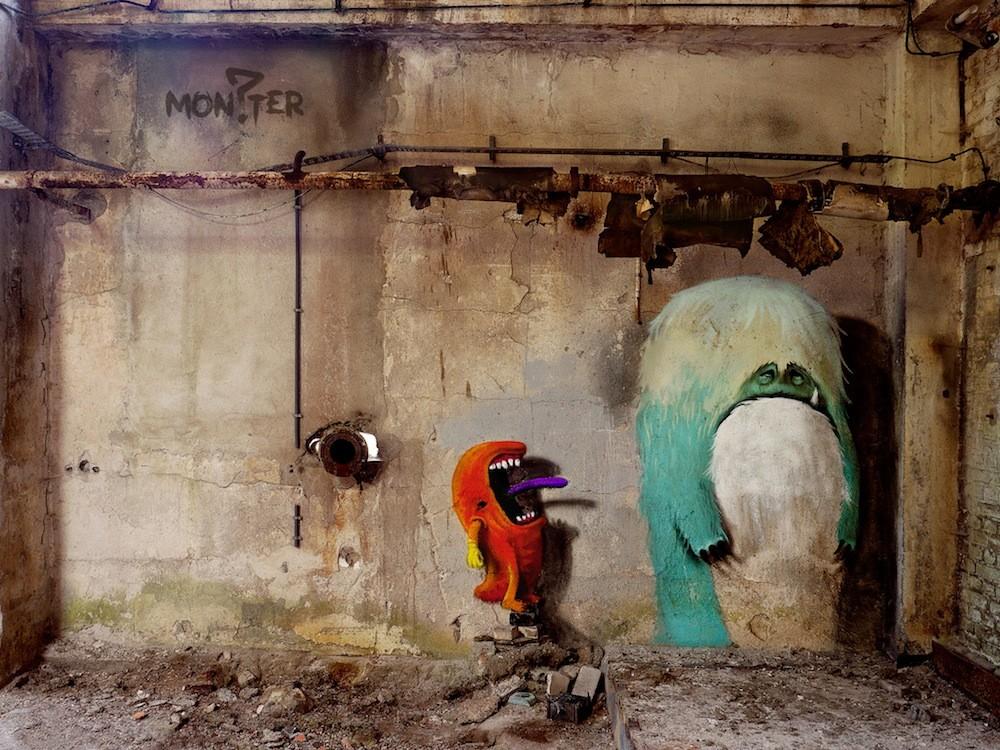 وحوش طريفة تحتل مباني برلين المهجورة