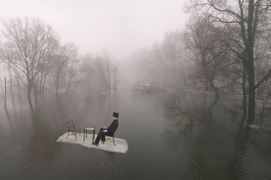فنان يبتكر صور مذهله باستخدام الخداع البصري