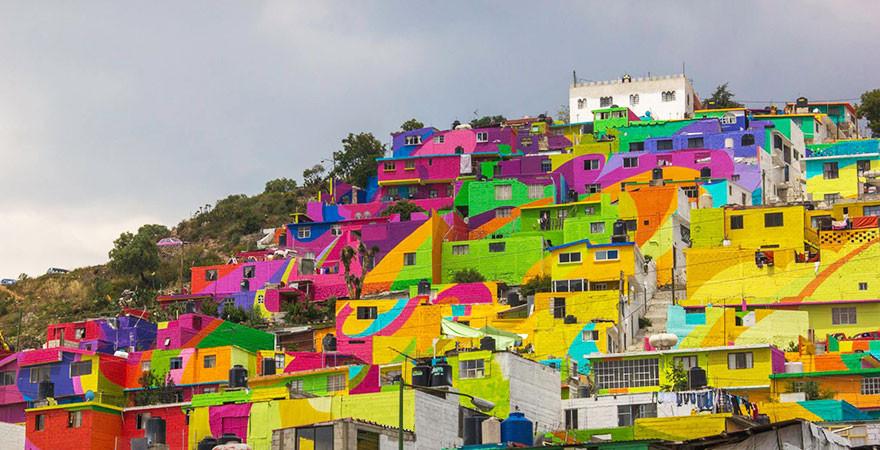الحكومة المكسيكية طلبت من فناني الشارع طلاء 200 منزل لتوحيد المجتمع