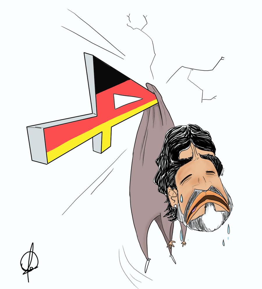 الفنان الاردني عمر المومني يصبح من أشهر رسامين عالم القدم