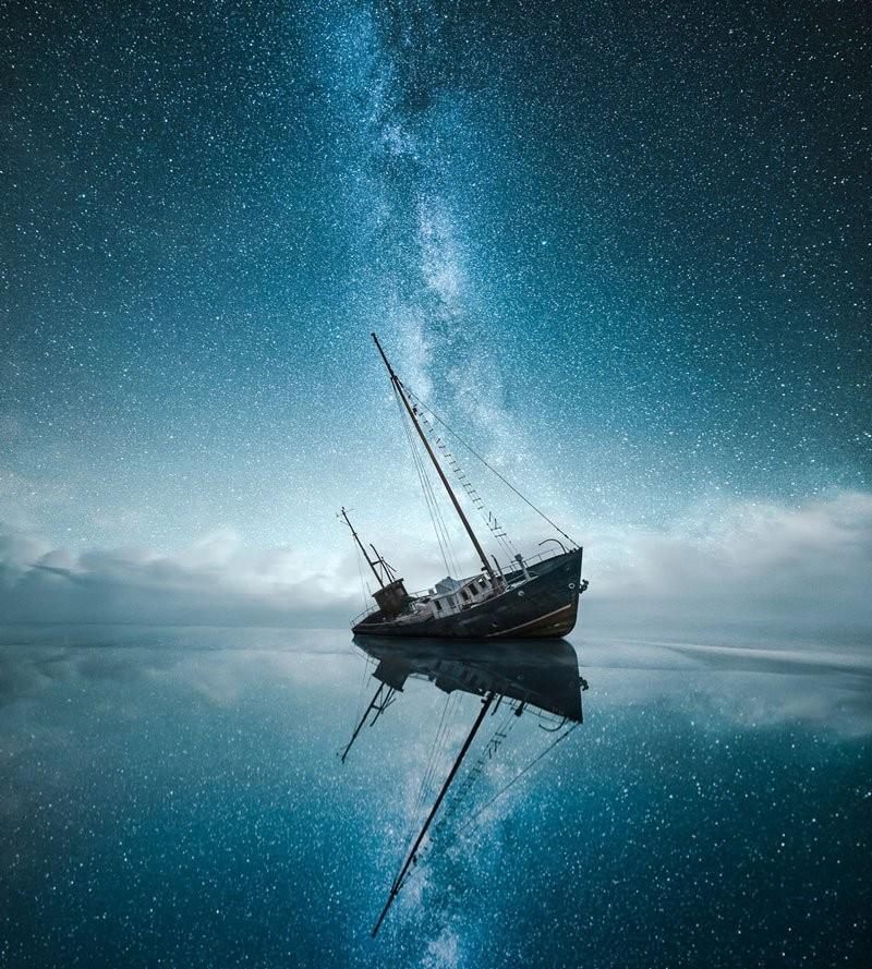 فنان فنلندي يلتقط جمال وسحر المناظر في الليل