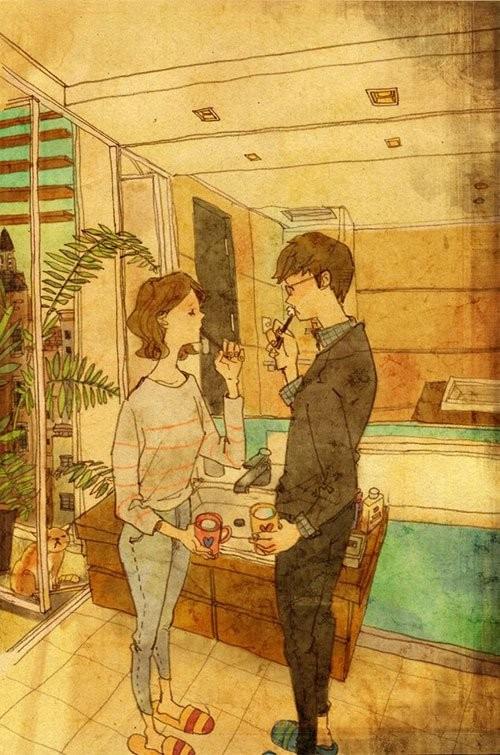 فنانة كورية تجسد المعنى الحقيقي للحب برسوماتها اللطيفة