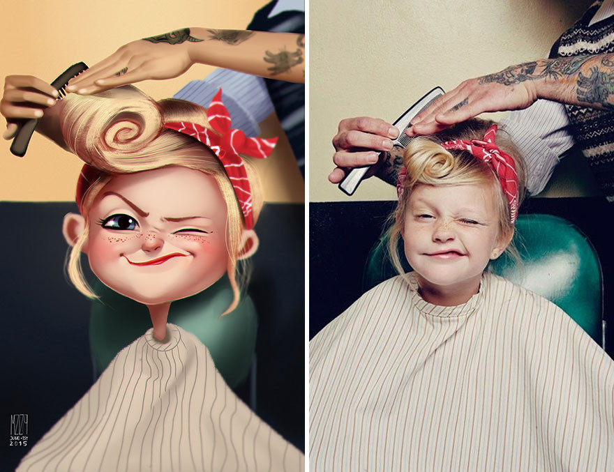 فنان برازيلى يحول الصور إلى شخصيات كرتونية
