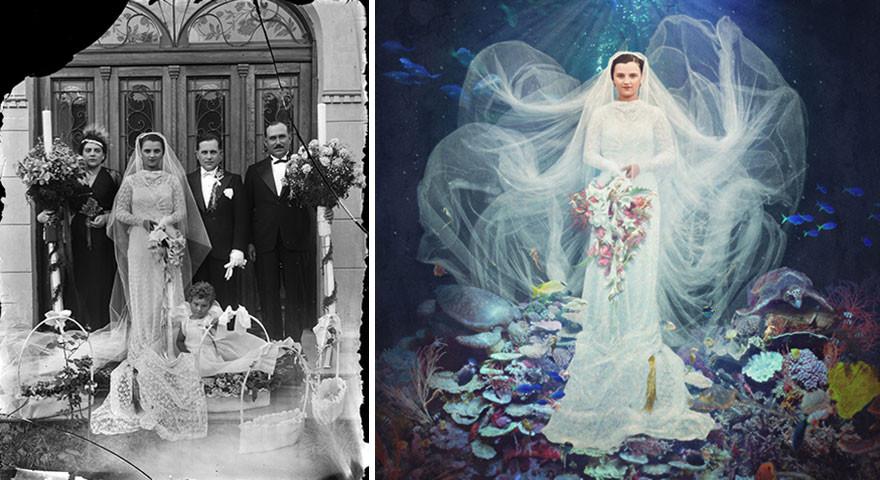 فنانة استرالية تحول الصور القديمة الى صور نابضة بالحياة