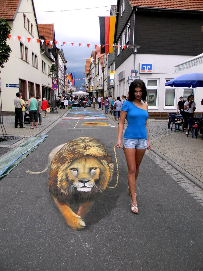 لوحات ثلاثية الأبعاد مذهلة للفنان نيكولاس ارندت