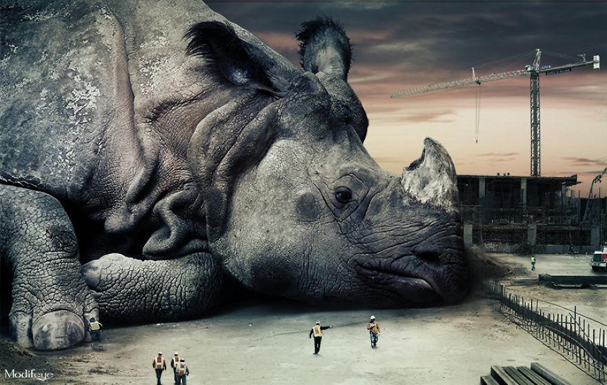ادمج ما بين الحياة البرية والحضرية لتصميم صور فنية عجيبة