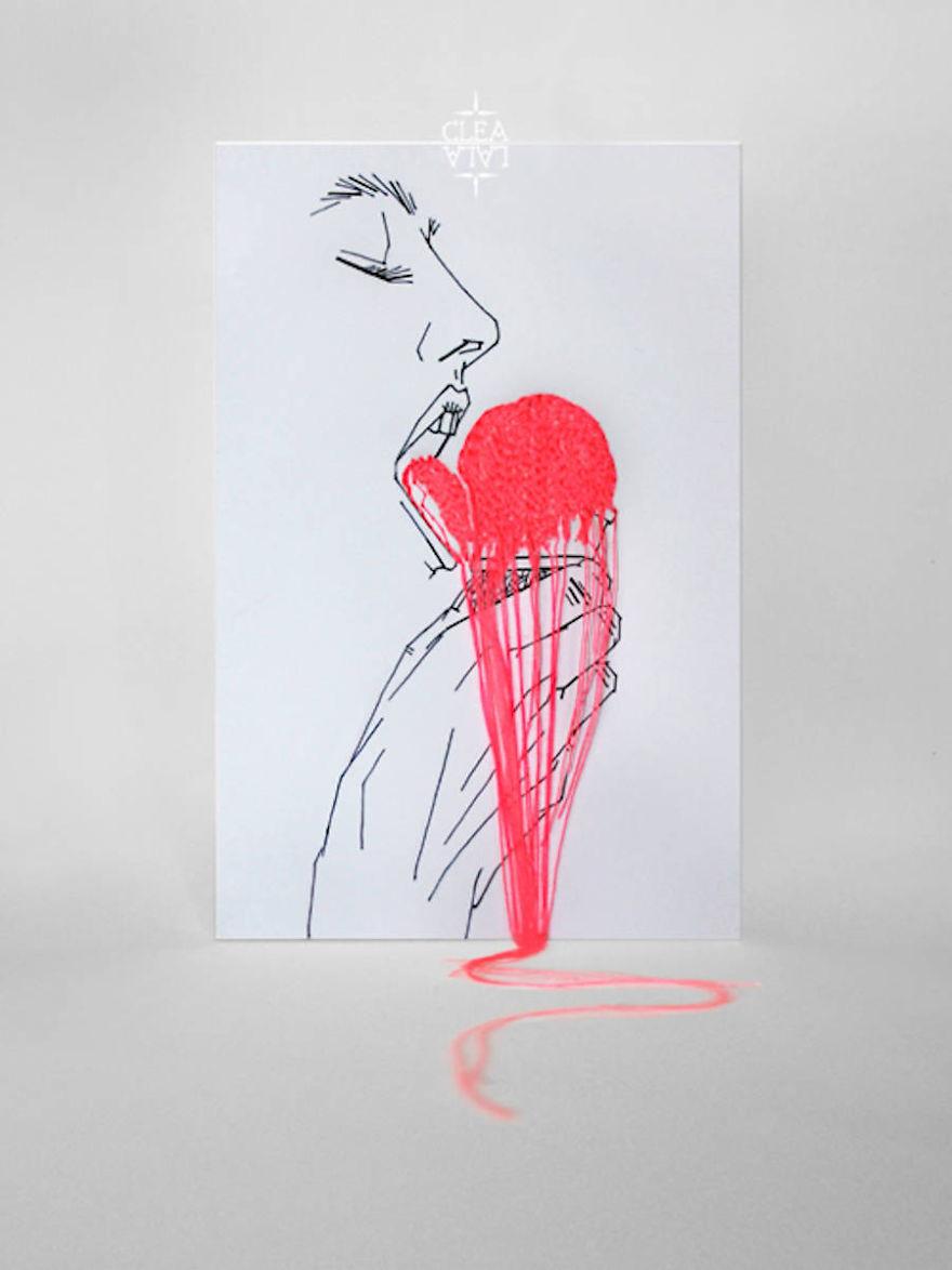 اصنع فن التطريز لكن على الورق