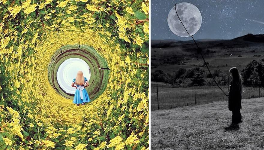 فنانة تنتج أعمال رائعة من خلال هاتف الآيفون وأولادها