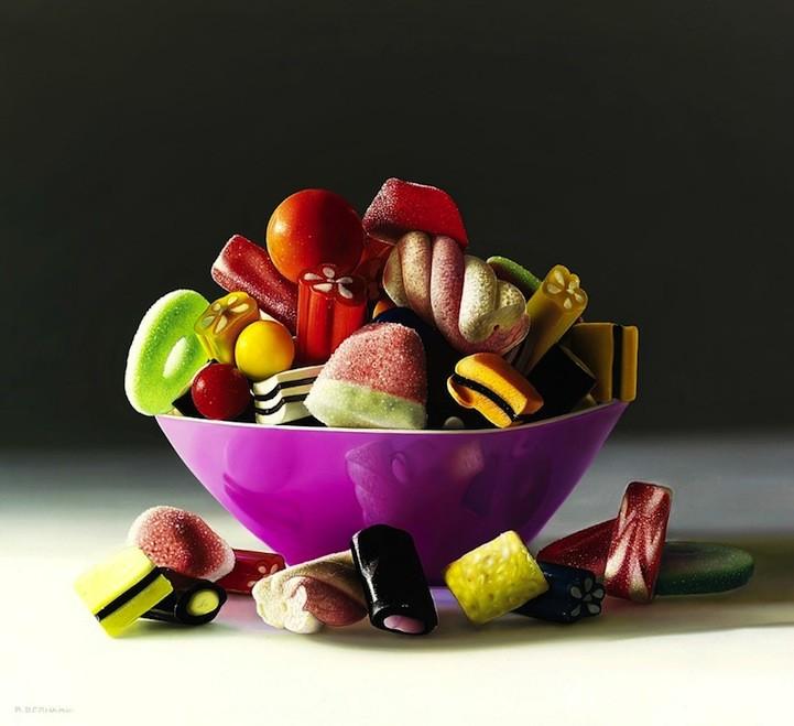 لوحات بالألوان الزيتية تبدو حقيقية جدا للفنان روبرتو برناردي