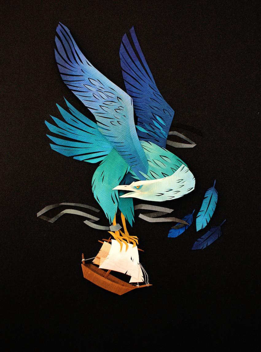 كولاجات أسطورية من قصاصات الورق للفنانة مورجانة والاس