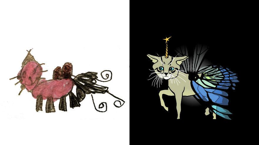 أكثر من مائة  فنان  يستوحي رسمته من وحوش رسمها أطفال