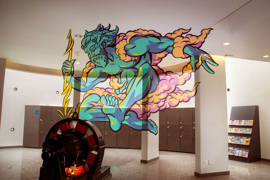 فن الجرافيتي الثلاثي الأبعاد يحول الأماكن المهجورة إلى أعمال فنية رائعة
