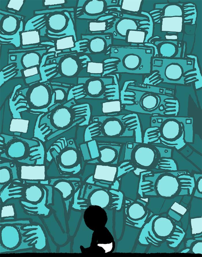 الإدمان على التكنولوجيا في رسومات ساخرة  للفنان جين جوليان