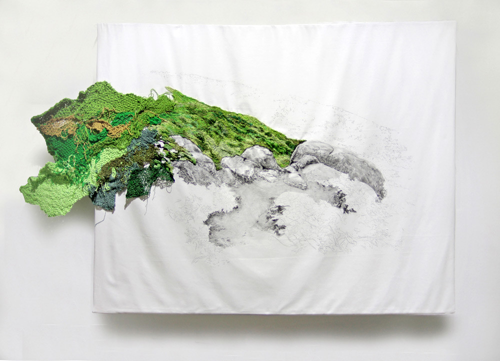 مناظر طبيعية مطرزة تنسال خارجة عن اللوحات