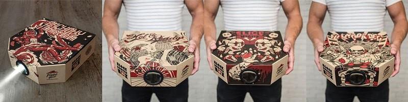 صندوق بيتزا يحول الهاتف الذكي إلى جهاز لعرض الأفلام