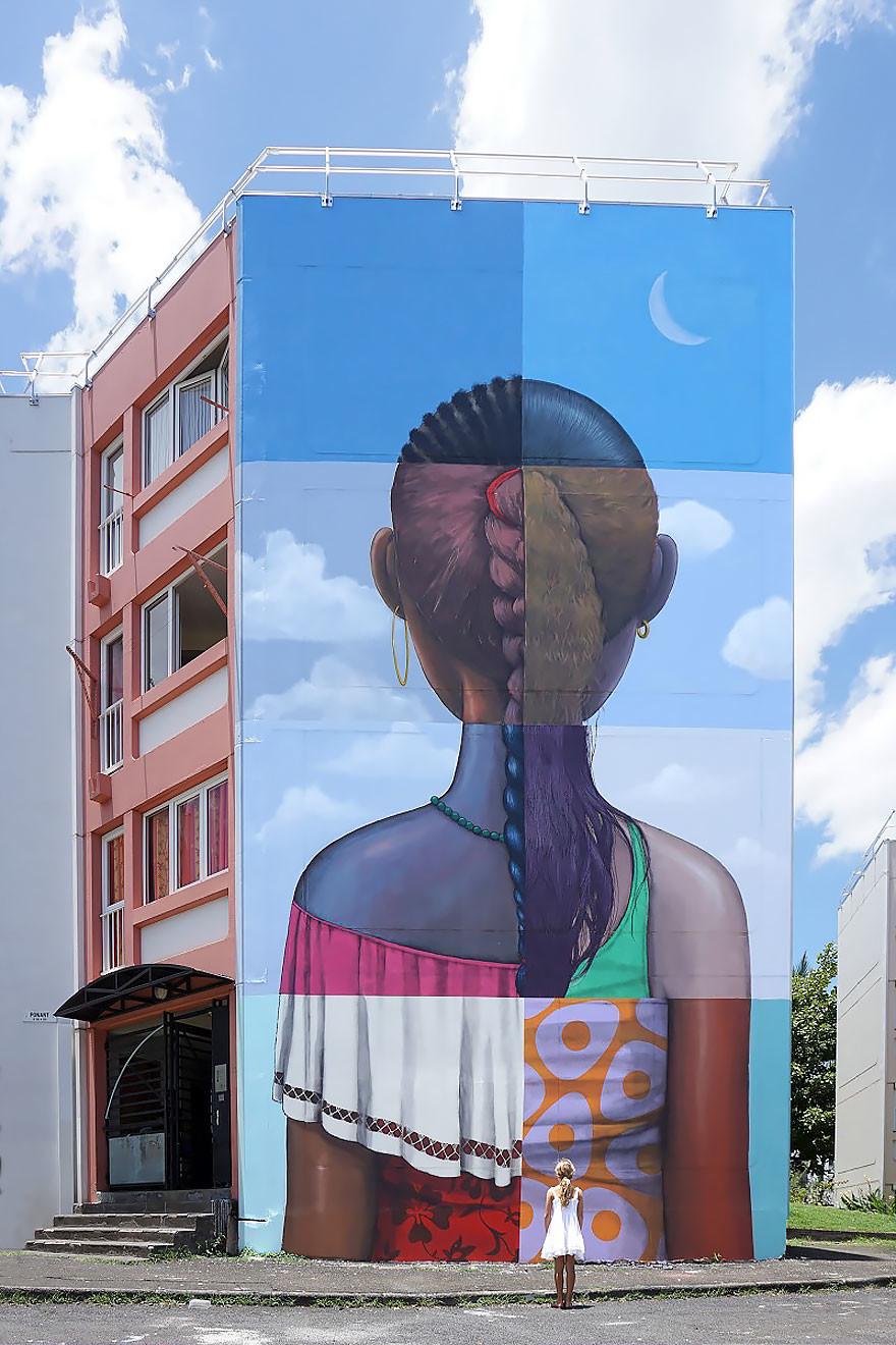 فنان يحول مباني مملة إلى أعمال فنية