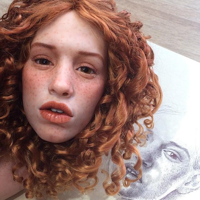 دمى بوجوه واقعية جداً من صنع فنان روسي