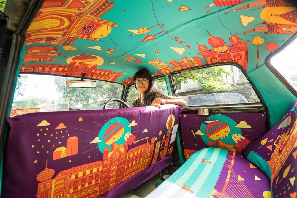 سيارات التاكسي في الهند تتحول إلى أعمال فنية ممتعة