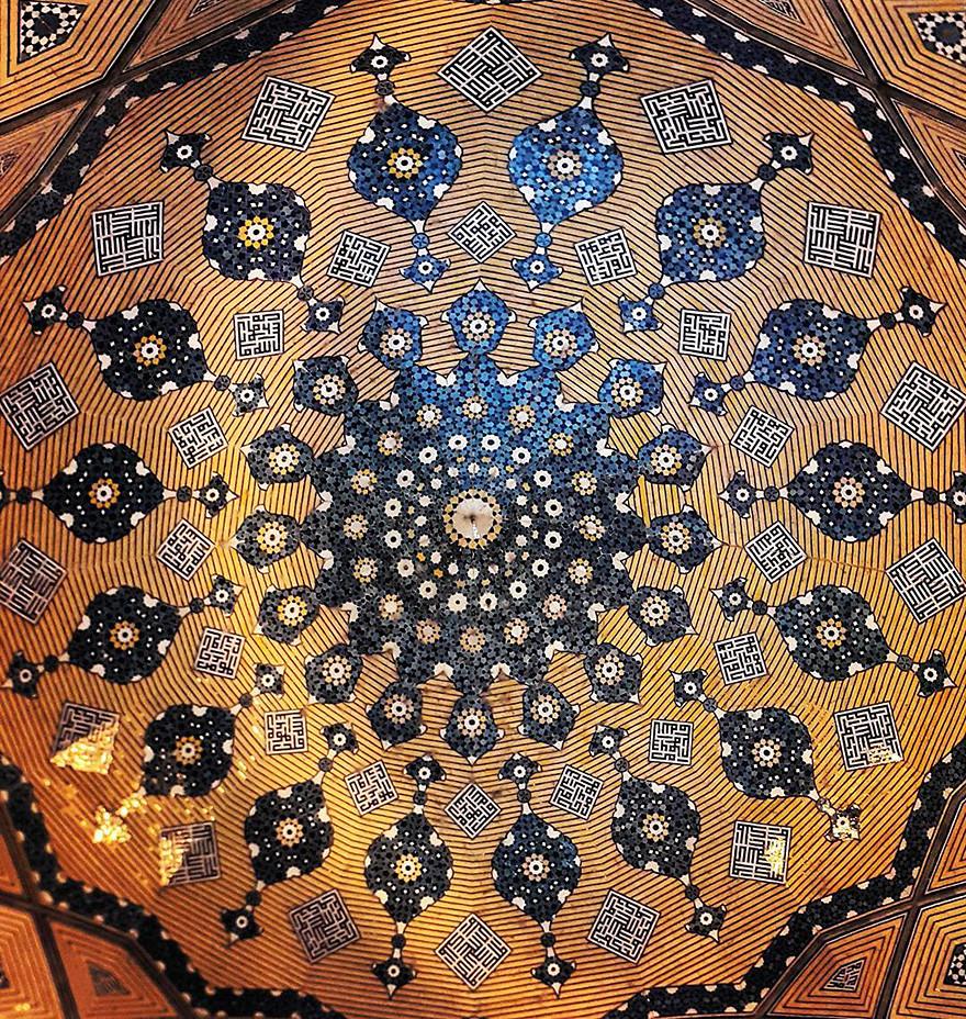جمال وروعة أسقف المساجد في ایران