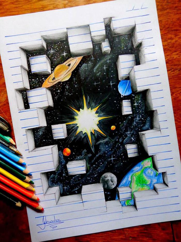 رسومات ثلاثية الأبعاد تبرز من داخل الصفحات