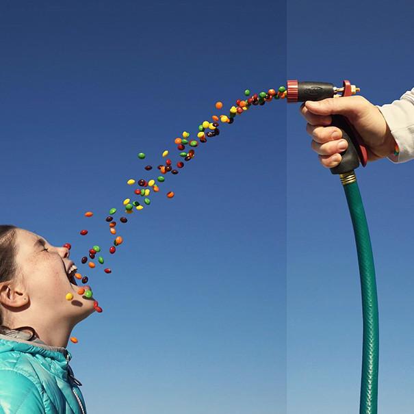 مصور فوتوغرافي يدمج صورا مختلفة للحصول على نتائج مضحكة