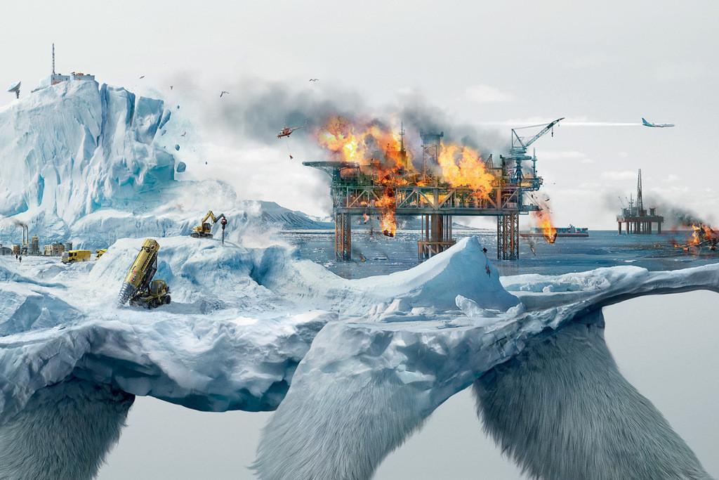 رسومات توضح كيف أن تدمير البيئة الطبيعة تدمر الحياة