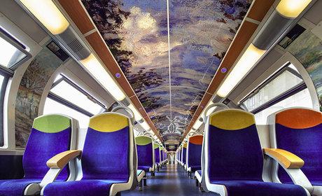 قطارات فرنسا تتحول إلى متاحف فنية متنقلة