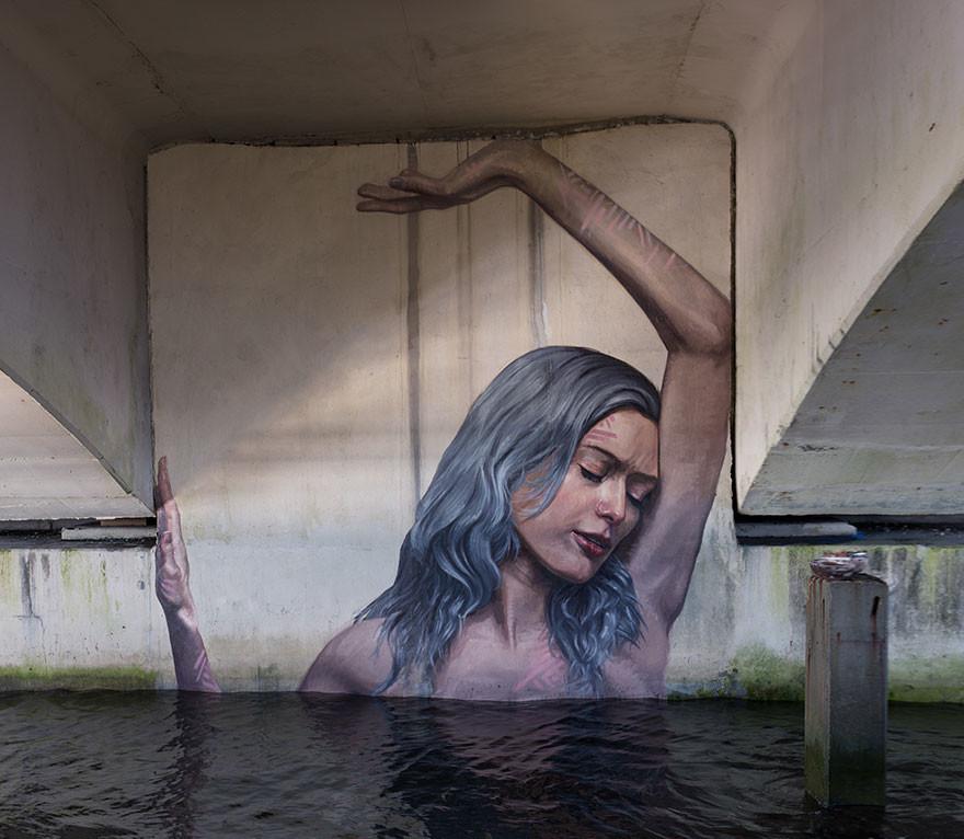 سلسلة جديدة من الجداريات للفنان شون يورو رسمها وهو متوازن على لوح تزلج