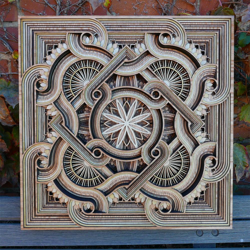 منحوتات خشبية جميلة قصت بالليزر للفنان غابرييل شاما