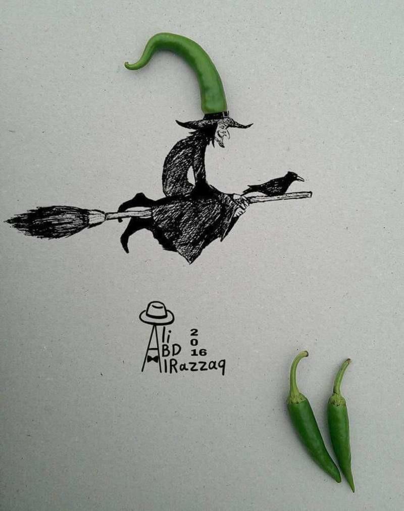طرائف بعيون عراقية | أعمال الفنان العراقي علي عبد الرزاق