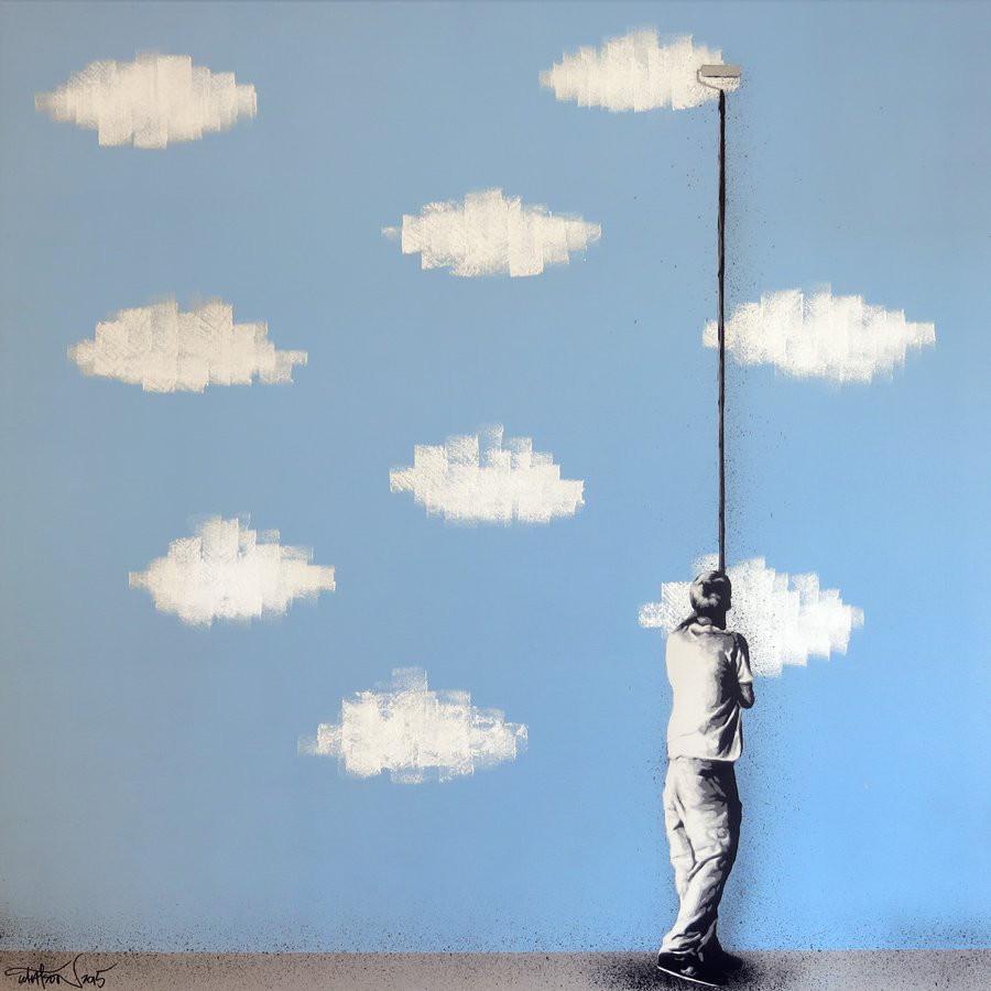 فن  الستينسل يمزج بين فن الغرافيتي والجدران المهترئة لمارتن واتسون