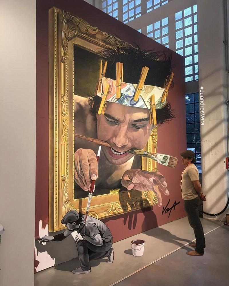 لوحات ثلاثية الأبعاد للفنان خواندريس فيرا