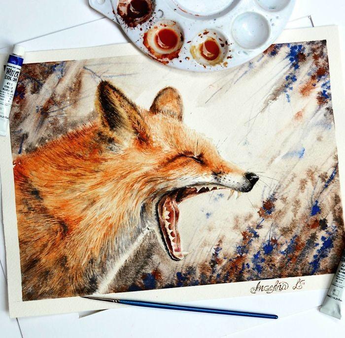 الرسومات الرائعة لفنانة بدأت بالرسم