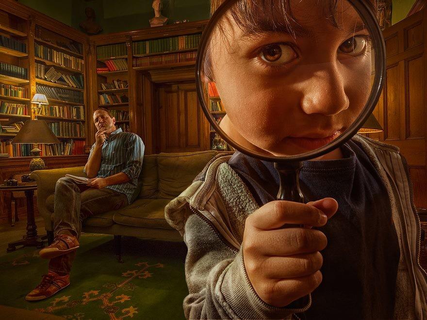 فنان يصور ابنه ومن ثم ينتج صوراً سريالية رائعة