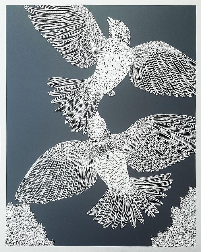 أعمال فنية دقيقة مصنوعة من الورق
