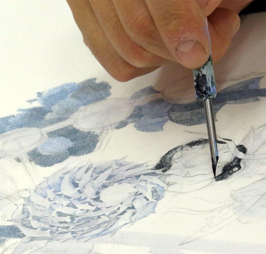 لوحة من أقلام الحبر استغرق رسمها 3 سنوات ونصف