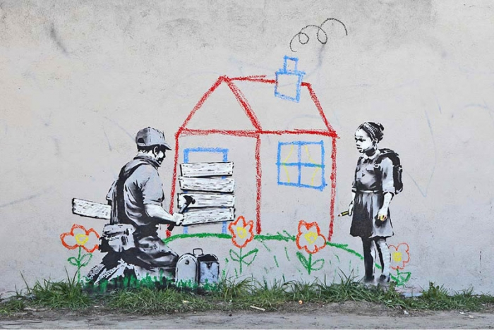 مجموعة من اعمال بانكسي (Banksy)