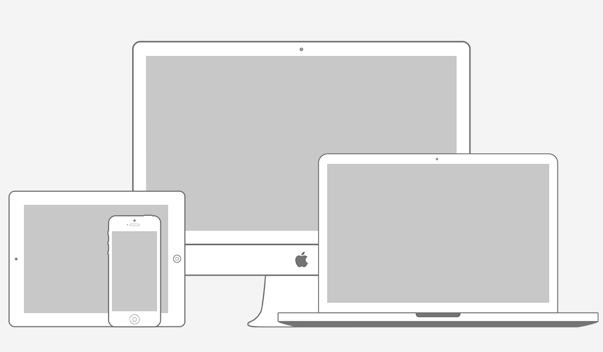 Vector for iMac iPad and iPhone  Hues of design