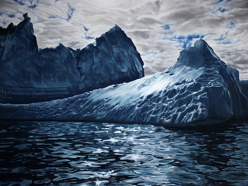 لوحات فنية إبداعية للقطب الشمالي رسمت باليد تبدو وكأنها حقيقية